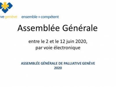 Assemblée Générale de palliative genève 2020